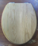 Sanitan Light / Natural Oak Real Wood Soft Close Toilet Seat - 04000306